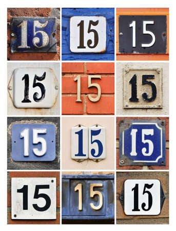 factorial: Collage of House Numbers Fifteen