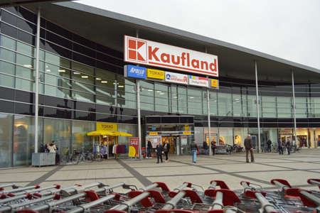 Shopping mall in Germany - Kaufland is a German hypermarket chain Editoriali