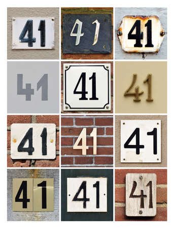 factorial: Collage of House Numbers Forty-one