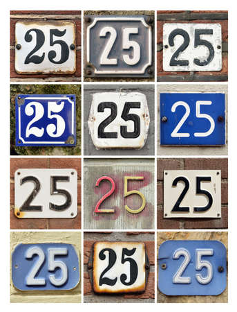 factorial: Collage of House Numbers Twenty-five