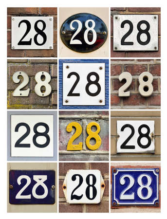 Collage of House Numbers Twenty-eight