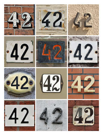 factorial: Collage of House Numbers Forty-two