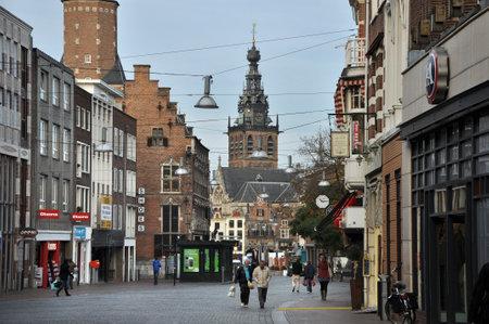 Nijmegen, Nederland - oktober 2011 Winkels in het centrum van Nijmegen