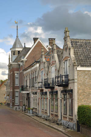north brabant: A picturesque street in the small historical town of Willemstad, The Netherlands