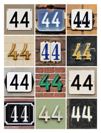 40: Collage of House Numbers Forty-four