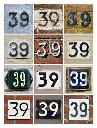 sundry: Collage of House Numbers Thirty-nine