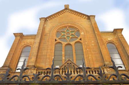 knesset: Sedan Synagogue - Facade of the synagogue of Sedan, France