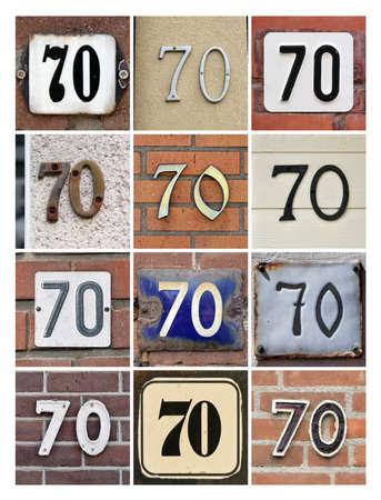 seventy: Collage di Casa Numbers Settanta Archivio Fotografico