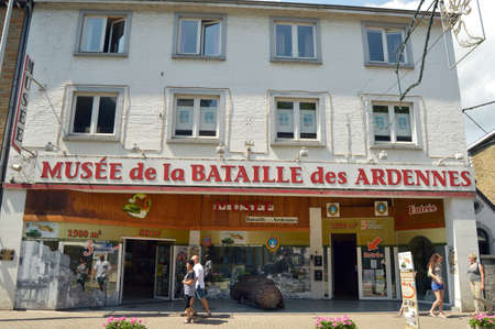 allied: LA ROCHE, BELGIUM - JULY 2013: Museum of the Battle of the Ardennes in La Roche-en-Ardenne, Belgium
