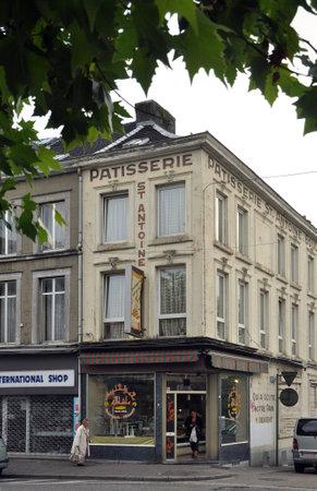 wallonie: VERVIERS, BELGIUM - AUGUST 2010: Arab bakery on the premises of former Patisserie St. Antoine  in Verviers, Belgium