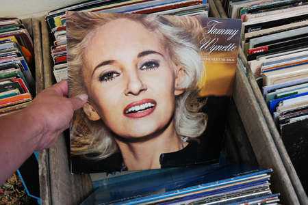 THE NETHERLANDS - AUGUST 2014: LP record of  in a second hand store Publikacyjne