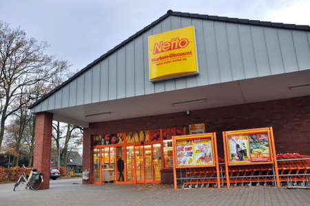 EMLICHHEIM, GERMANY - NOVEMBER 2010: Netto Marken-Discount is a German supermarket chain, part of Edeka Group. The Netto Marken-Discount retail concept is to offer well-known brands at low prices