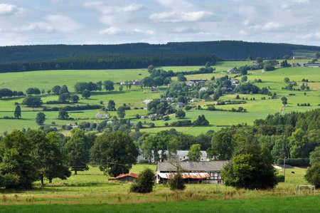 liege: Ardennes Landscape near Malmedy in the province of Liege, Belgium Stock Photo