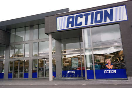 discount: MALMEDY BELGIUM MAY 2015: Action is a Dutch discount store chain. Sells in Their variety stores low budget products. Action Operates over 400 stores in the Netherlands Belgium Germany and France. Editorial