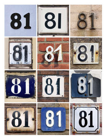 81: Collage of House Numbers Eighty-one