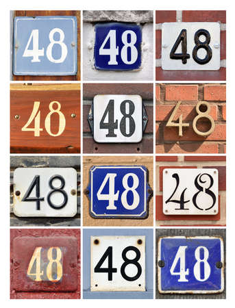 8 years birthday: Collage of House Numbers Forty-eight