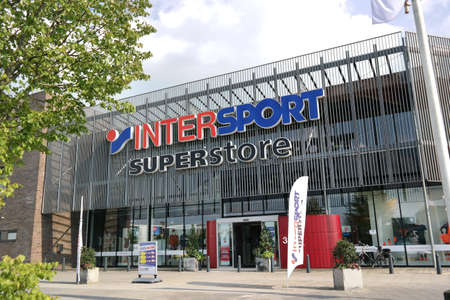 retailer: THE NETHERLANDS - AUGUST 2015 Industry and Intersport. The Intersport Group is an international sporting goods retailer