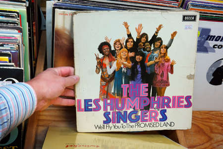 promised: THE NETHERLANDS - OCTOBER 2015: LP record or The Les Humphries Singers a 1970s musical group formed in Hamburg, Germany in a second hand store