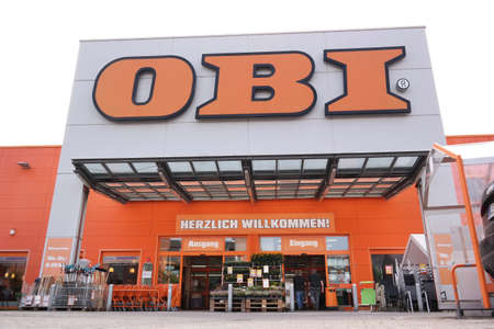 home improvement store: PAPENBURG, GERMANY - AUGUST 2015 Branch of OBI home improvement store. OBI GmbH Co is the largest DIY retailer in Europe.