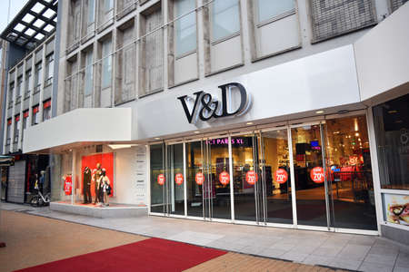 GRONINGEN, THE NETHERLANDS - JANUARY 2016: Vroom Dreesmann also known as VD is a Dutch chain of department stores owned by Sun Capital Partners. VD went bankrupt in December 2015.