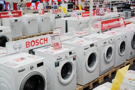 Meppen, DEUTSCHLAND - Februar 2015: Niederlassung von Media Markt, einem deutschen Ladenkette verkauft Consumer Electronics mit zahlreichen an Niederlassungen in ganz Europa und Asien. Es ist der größte Einzelhändler für Unterhaltungselektronik in Europa. Editorial