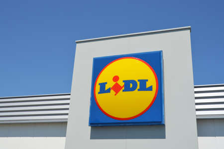retail chain: FRANCE - JULY 2014: Lidl supermarket, a global German discount retail chain Their concept is selling Mainly house brands directly from the box. Editorial