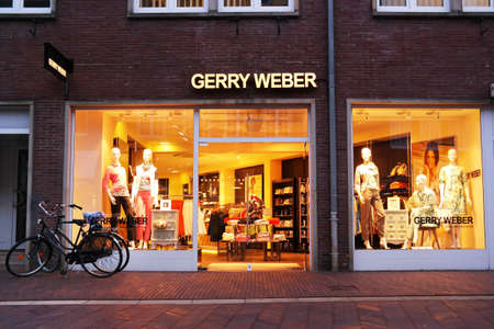 retailing: MEPPEN, GERMANY - MARCH 2016: Gerry Weber International AG is a fashion manufacturer and retailer riding schools and 1,000 own stores with brands Taifun, Samoon and Hallhuber.