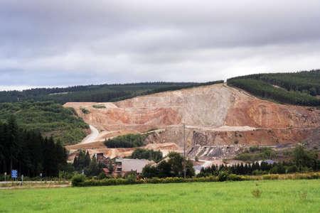 quartzite: Open quarry in mountain in the Belgian Ardennes