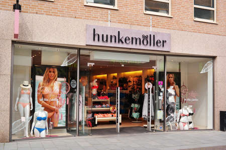 paribas: VENRAY, THE NETHERLANDS - MAY 2016: Branch of Hunkemoller lingerie store. Hunkemöller is a clothing manufacturer from the Netherlands, Specializing in underclothes and lingerie.