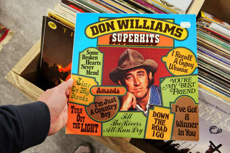 lp: THE NETHERLANDS - OCTOBER 2016: LP record of the American country music singer-songwriter: Don Williams, in a second hand store.