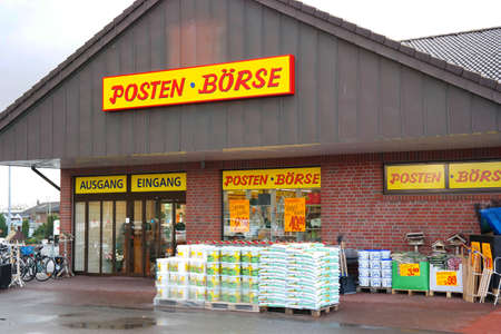 Neuenhaus GERMANY - FEBRUARY 2016: Branch of Posten Borse outlet superstore, a long-term retailer of the special items industry