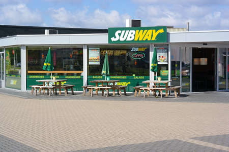 VENRAY, THE NETHERLANDS - MAY 2016: Subway Restaurant. Subway is a privately held American fast food restaurant franchise and the largest restaurant operator in the world.