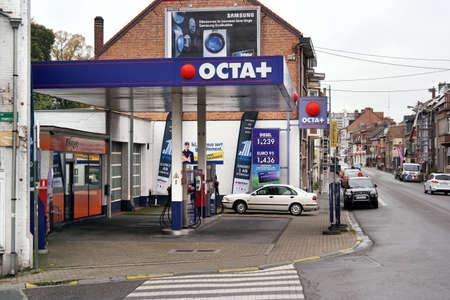 WAVRE, BELGIUM - OCTOBER 2014: OCTA + is a Belgian energy company, which has its headquarters in Vilvoorde. The company supplies electricity, natural gas, fuel and domestic oil.