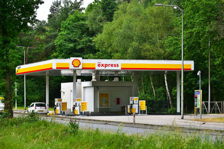 APELDOORN, THE NETHERLANDS - MAY 2017: An unmanned self-service Shell express gas station.