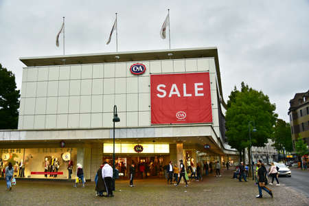 AACHEN, GERMANY - AUGUST 2017: Sale at C & A fashion store. C & A is an international chain of fashion retail clothing stores