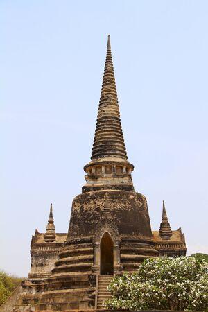 Pagoda temple in Ayutthaya, Thailand.  photo