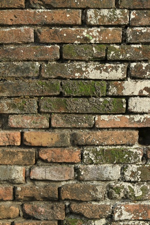 An old brick walls of the ancient Thai in a rat before  Stock Photo - 10637295