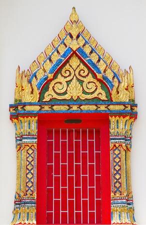 thai temple window  photo