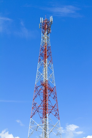 Red and White Communication Tower  photo