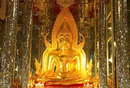 Buddha in a glass temple Wat Tha Sung Thailand  photo