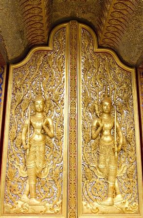 Design beautiful Thai temple gate   photo