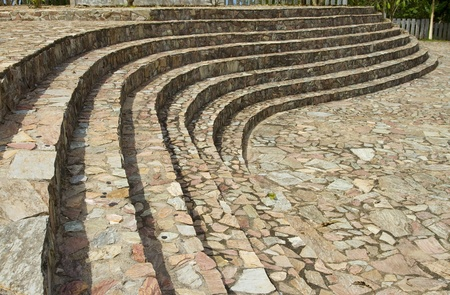 Curve of the stone stairs in the park  Stock Photo - 12862167