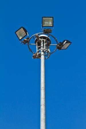 Blue metal street light photo