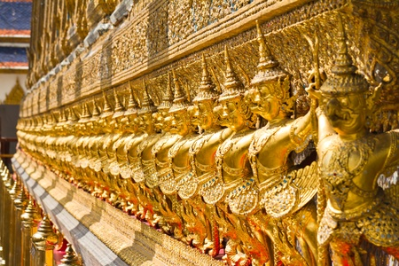 Golden Garuda in Wat Phra Kaew photo