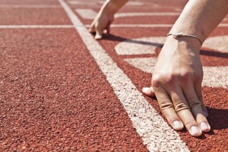 running on track: start