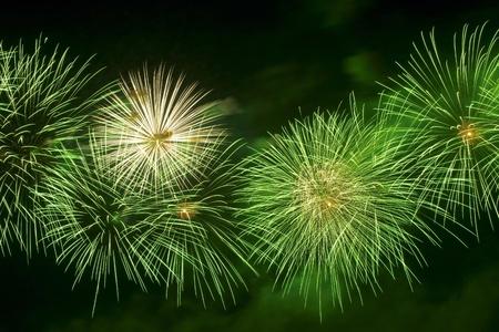 Firework streaks in the night sky photo