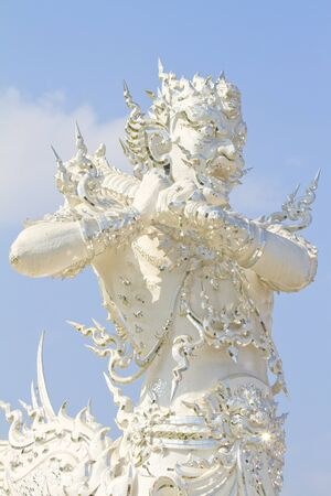 nether: Giants in White Church of Wat Rong Khun at Chiang Rai, Thailand