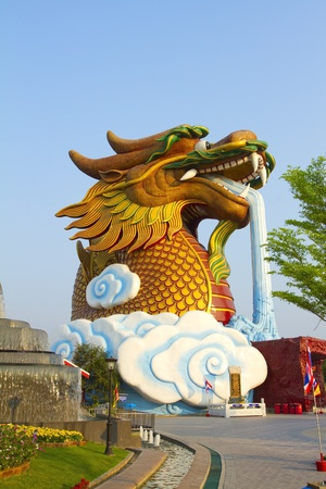 Big Dragon Statue In Thailand photo