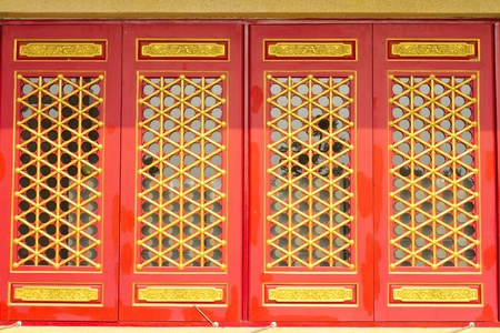 Red chinese window Stock Photo - 17442247