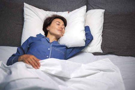 Woman enjoying sweet dreams